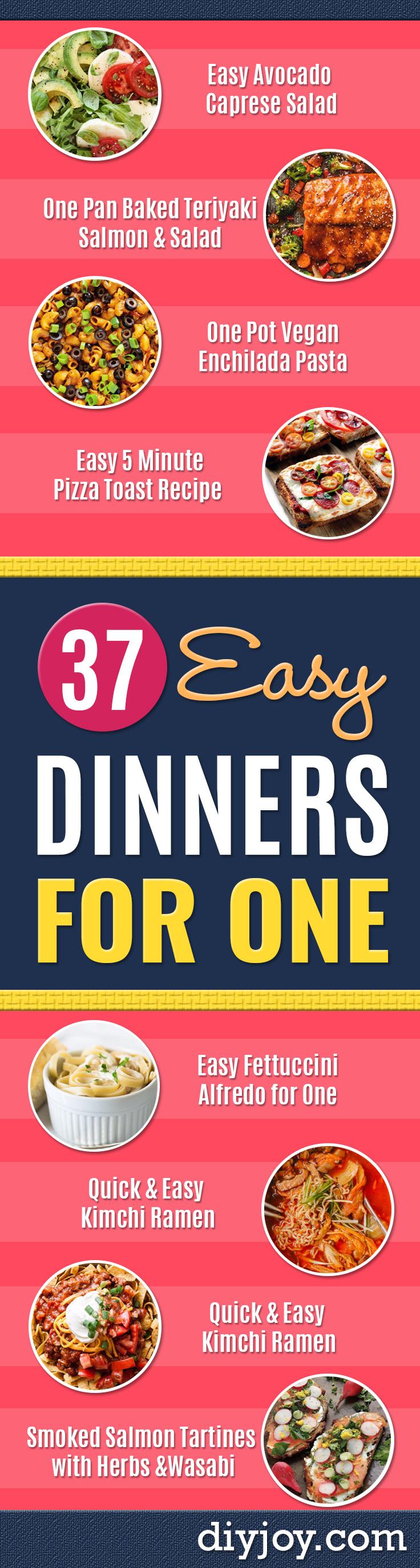 10 Elegant Simple Dinner Ideas For 1 37 easy dinners for one
