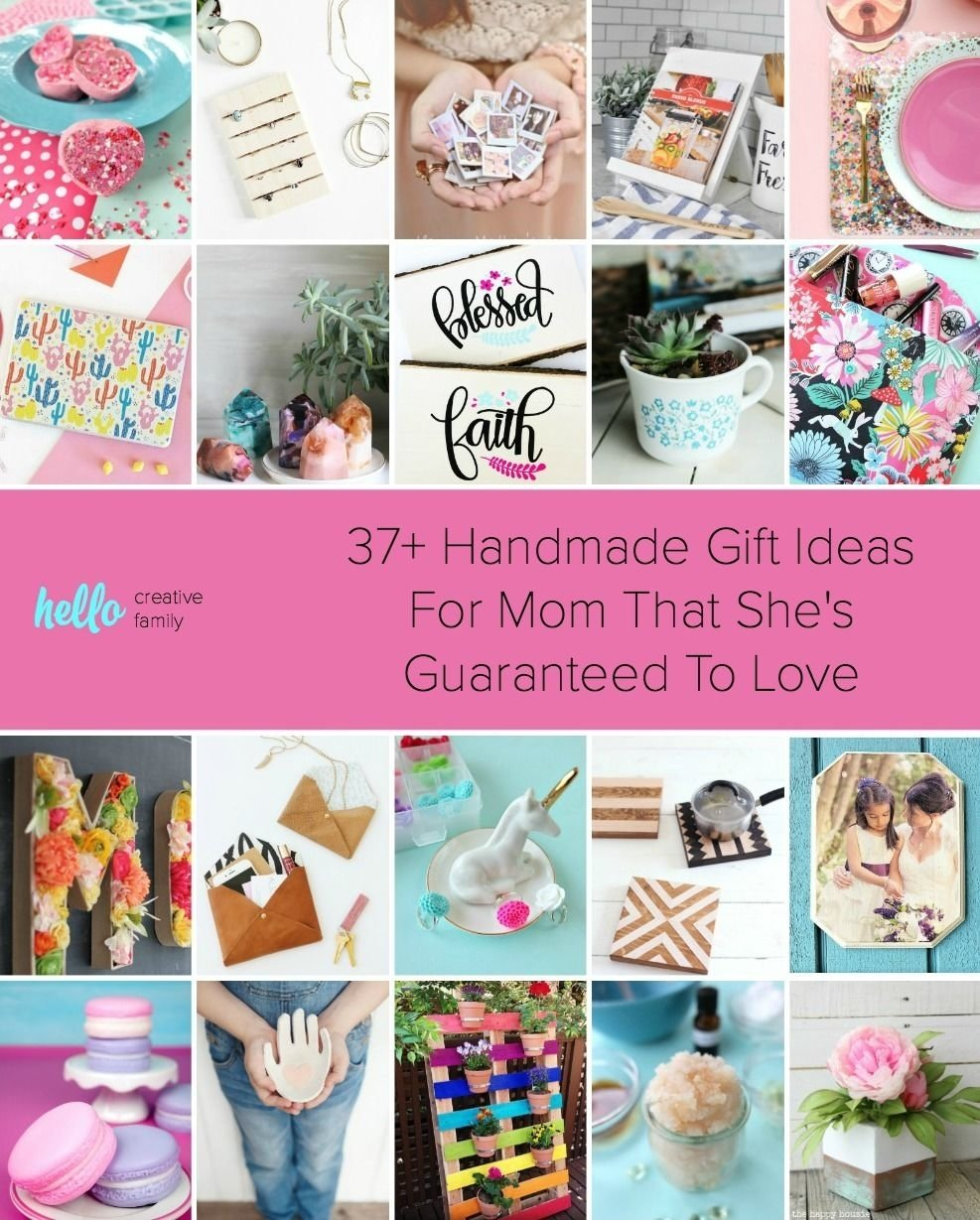 10 Pretty Handmade Gift Ideas For Women 37 handmade gift ideas for mom that shes guaranteed to love diy 2020