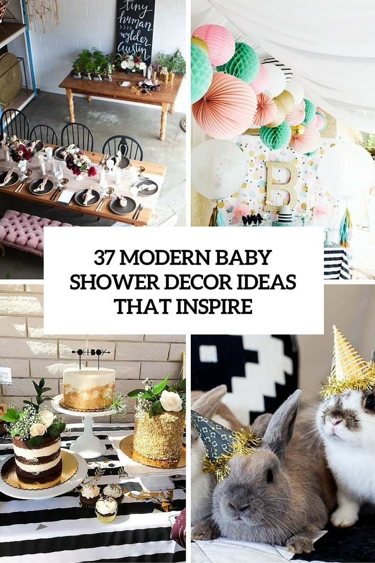 10 Attractive Decorating Ideas For A Baby Shower 37 modern baby shower decor ideas that really inspire digsdigs 2021