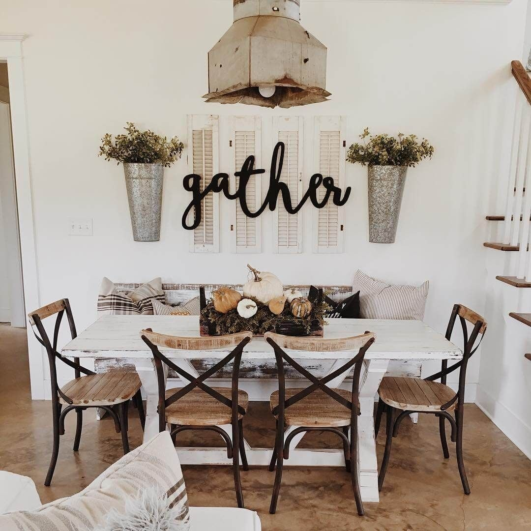 10 Trendy Wall Decor Ideas For Kitchen 37 timeless farmhouse dining room design ideas that are simply 2 2020