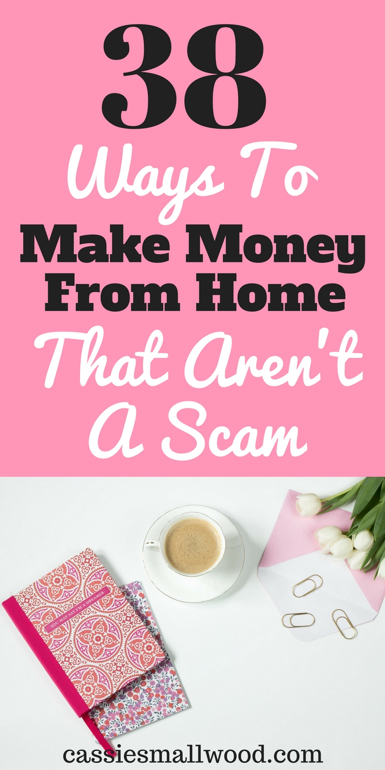 38 creative ways to make money on the side from home ~ cassie smallwood