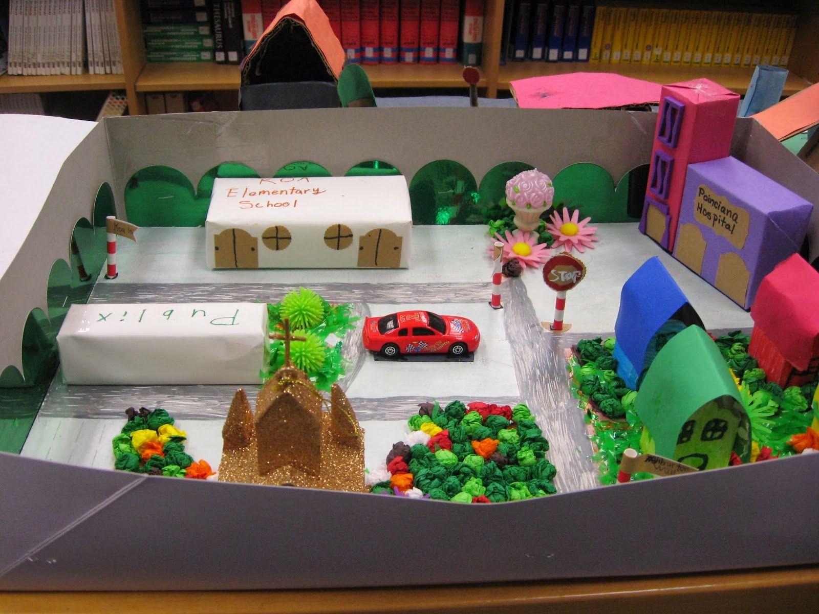 10 Cute School Project Ideas For Kids 3d community map hw school community school projects maps for kids