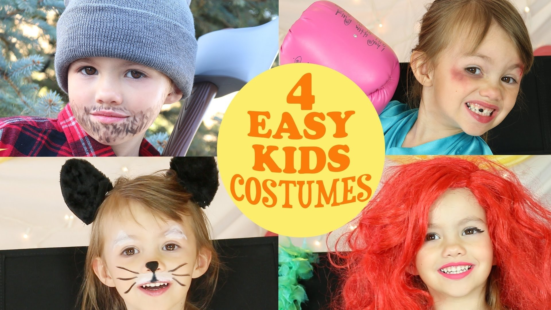 4 cute & easy costume ideas for kids - youtube