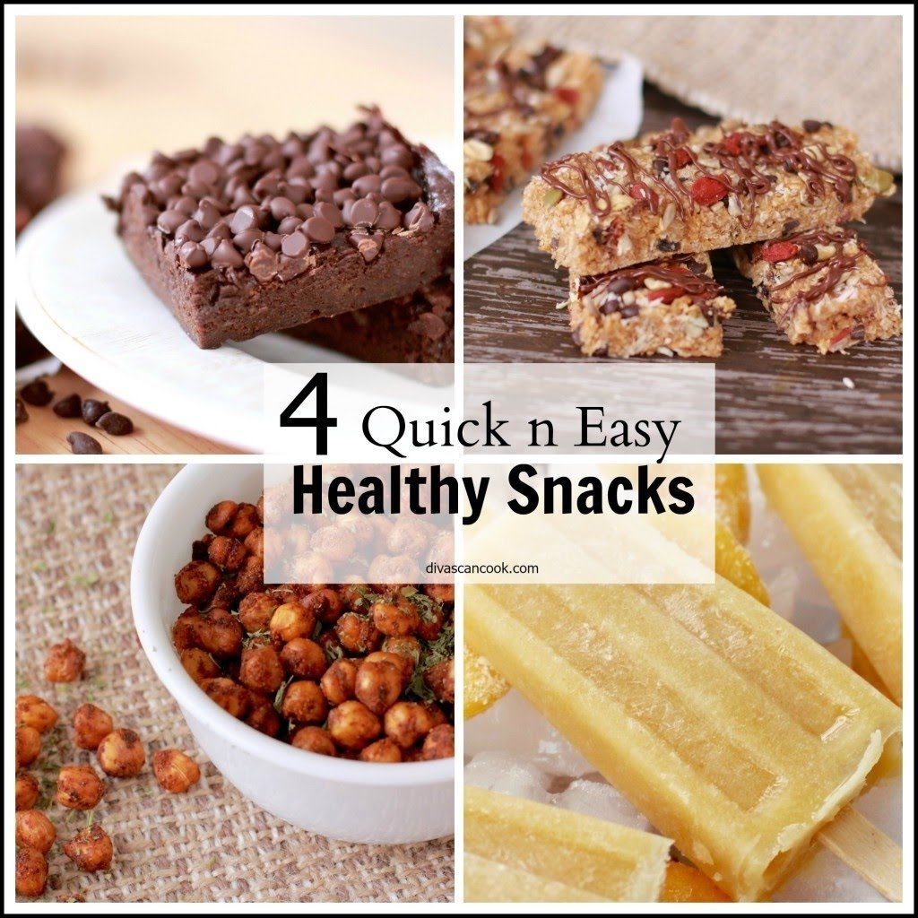 4 delicious healthy snacks! quick & easy recipes! - youtube