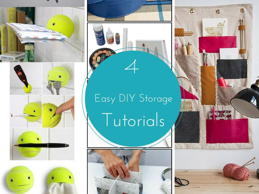 4 easy diy storage ideas tutorials