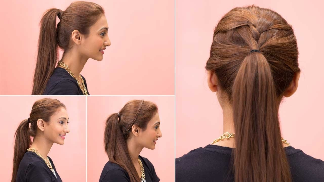 10 Fantastic Cute Ponytail Ideas For Medium Hair 4 easy ponytail hairstyles quick easy girls hairstyles glamrs 2021