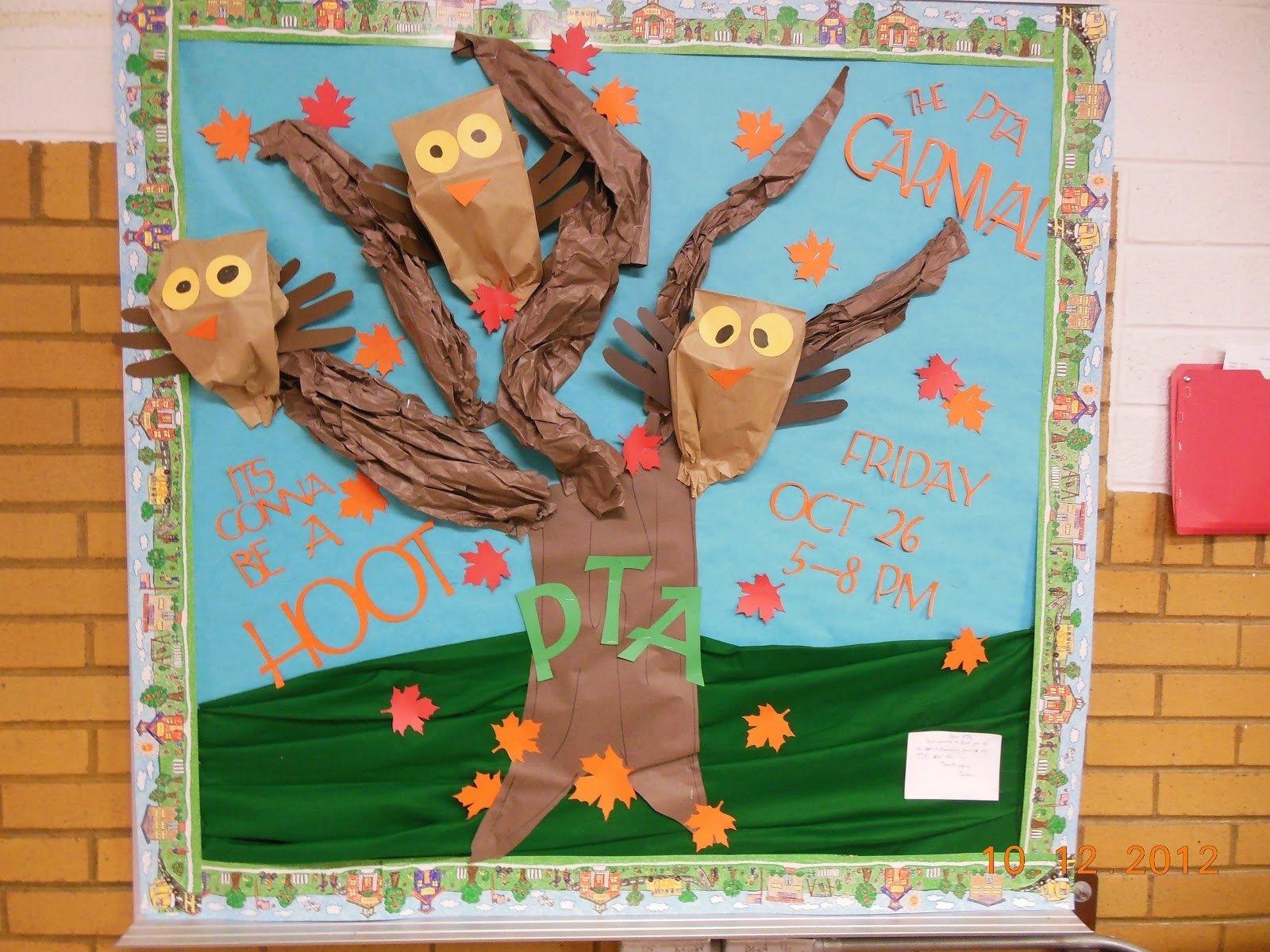 10 Fantastic Fall Halloween Bulletin Board Ideas 4 growing boys pta fall bulletin board 2020