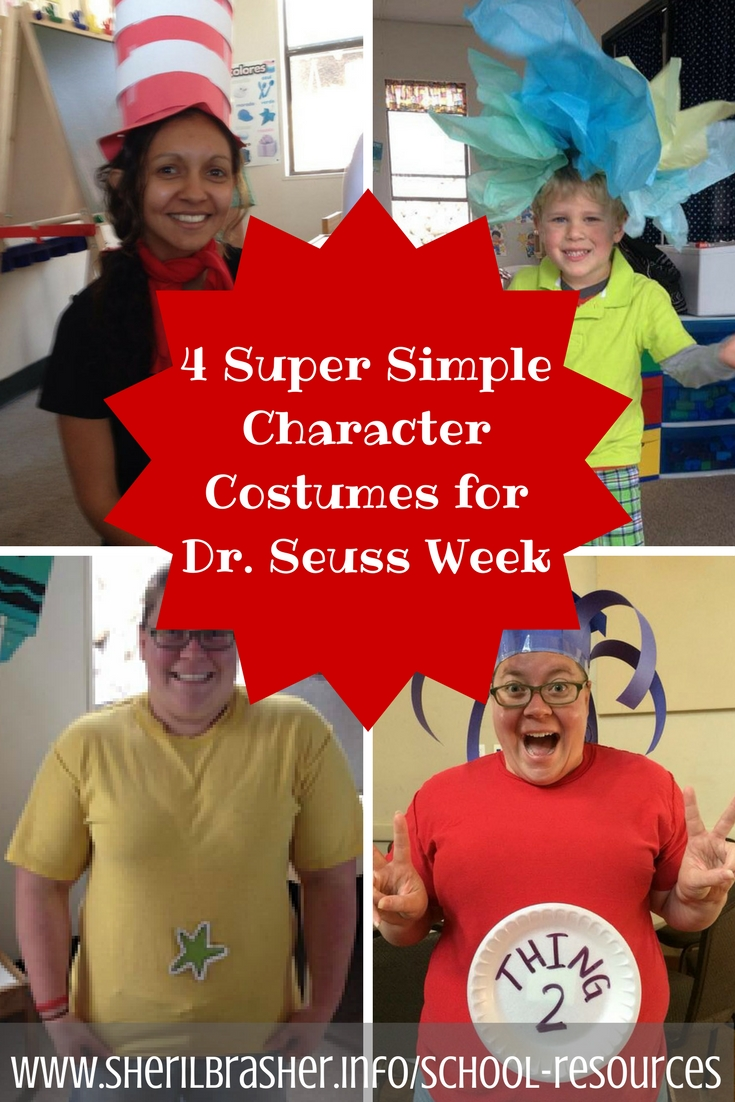 10 Best Dr Seuss Characters Costumes Ideas 4 last minute and super simple dr seuss character costumes for dr