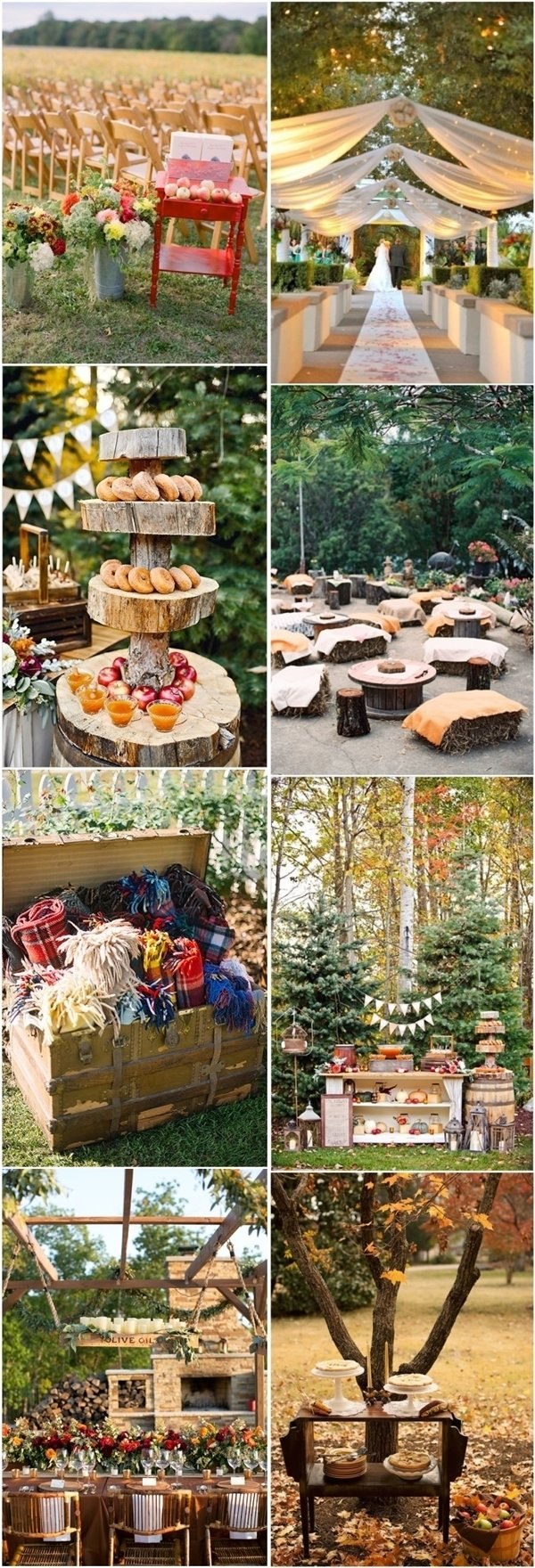 10 Awesome Outdoor Wedding Ideas For Fall 40 amazing outdoor fall wedding decor ideas deer pearl flowers 2021