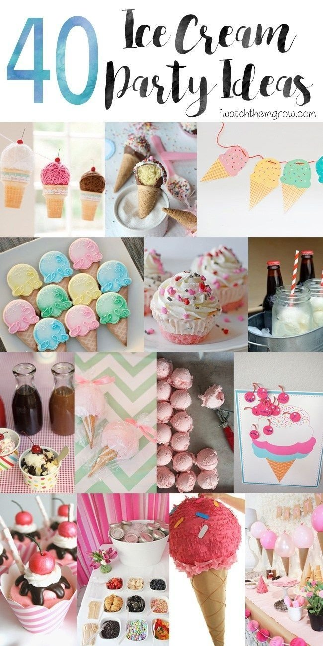 40 awesome ice cream party ideas | hacks diy, diy decoration and