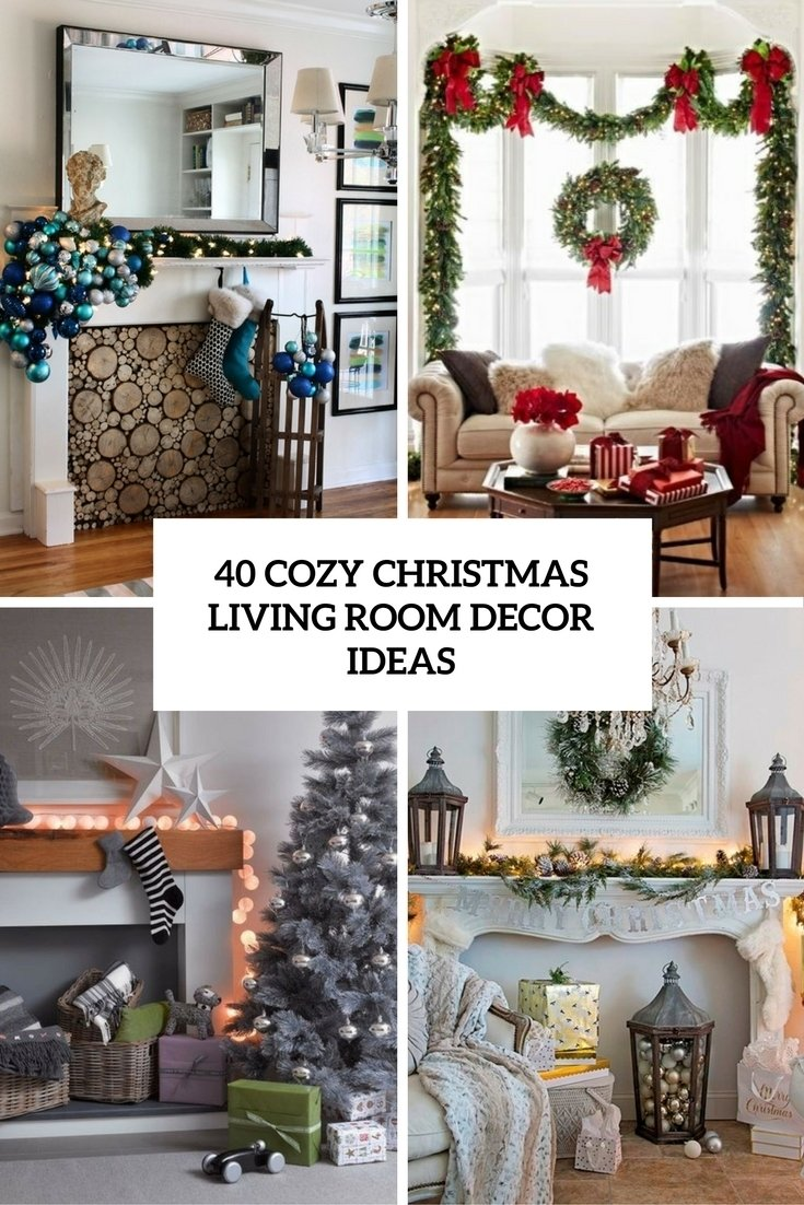 40 cozy christmas living room décor ideas - shelterness