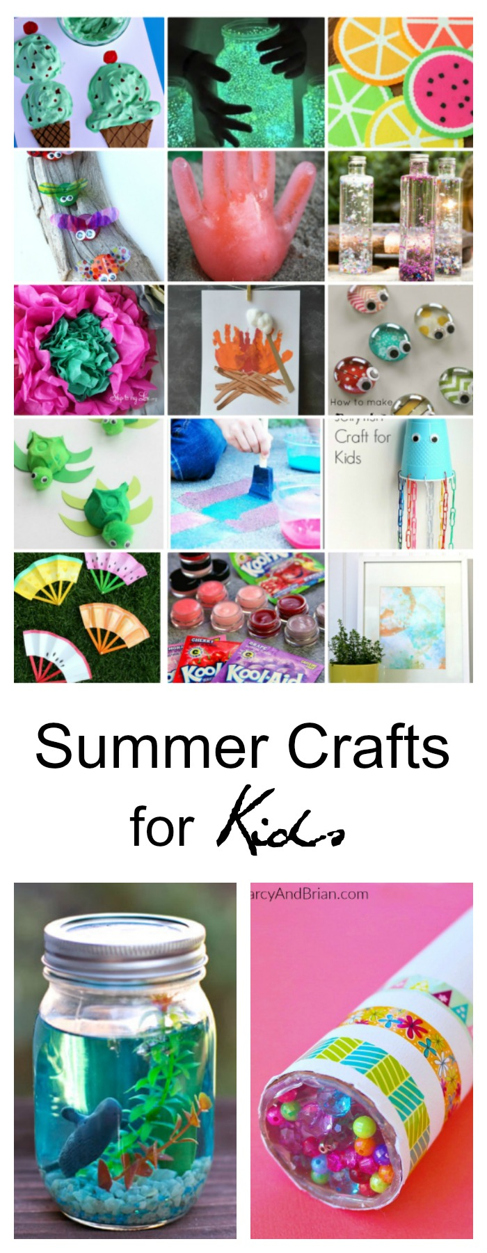 10 Unique Ideas For Crafts For Kids 40 creative summer crafts for kids that are really fun