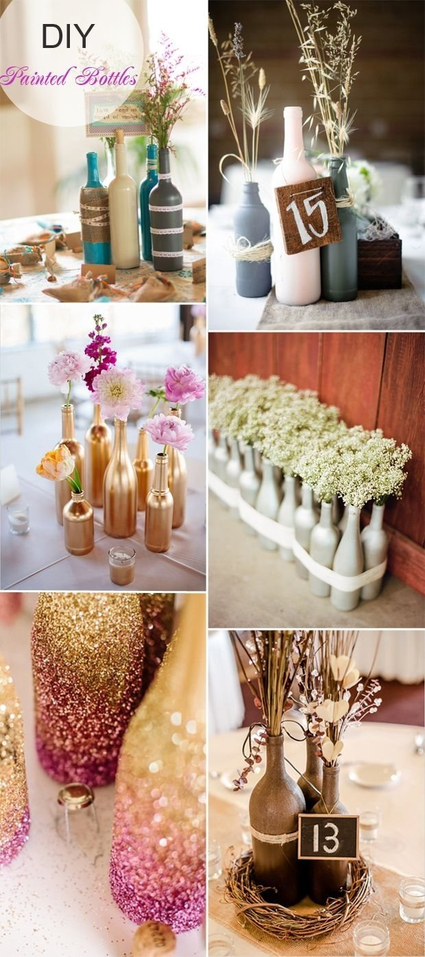 10 Lovable Ideas For Wedding Centerpieces On A Budget 40 diy wedding centerpieces ideas for your reception painted 2021