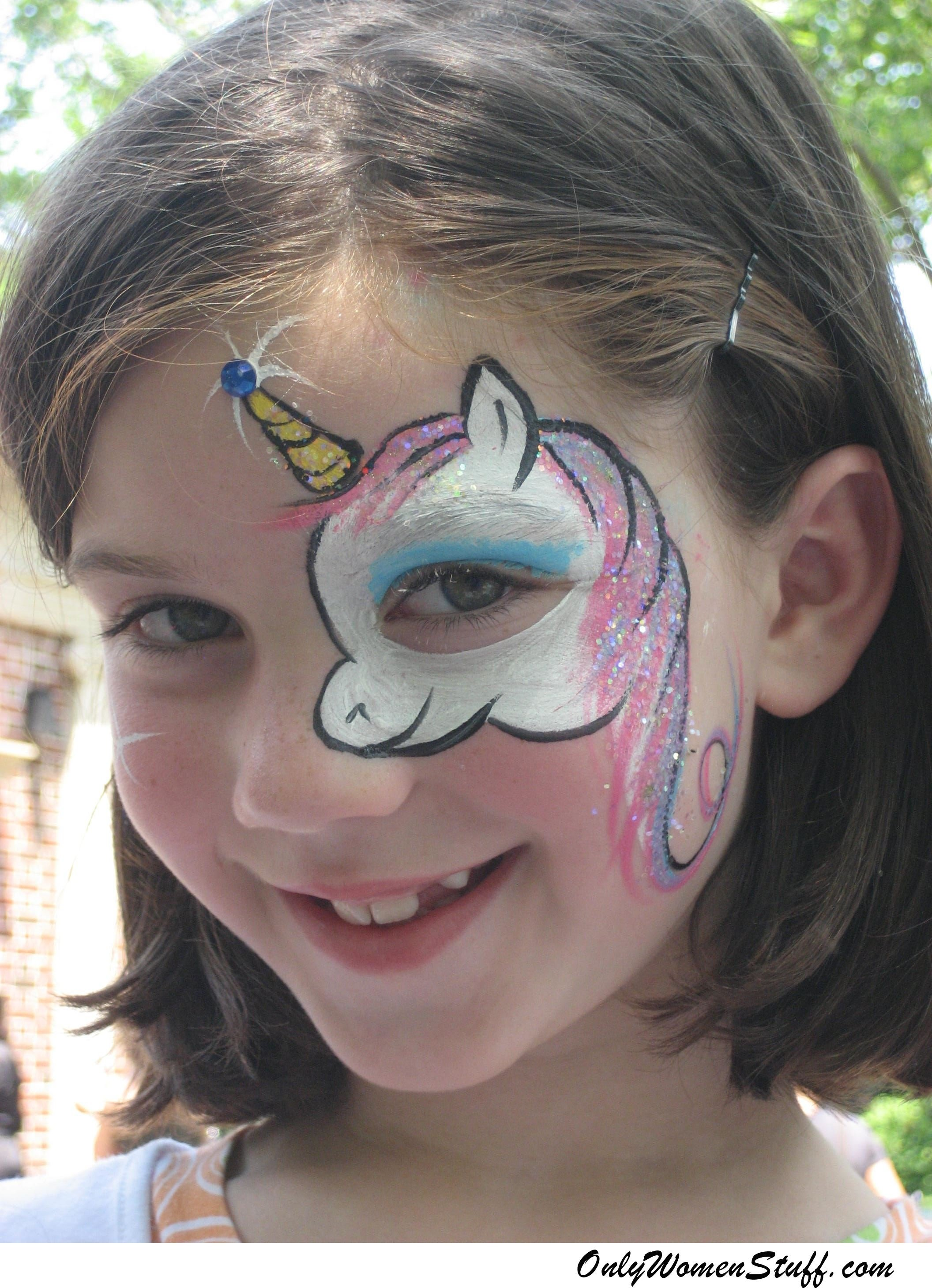 40+ easy kids face painting ideas designs for little girls