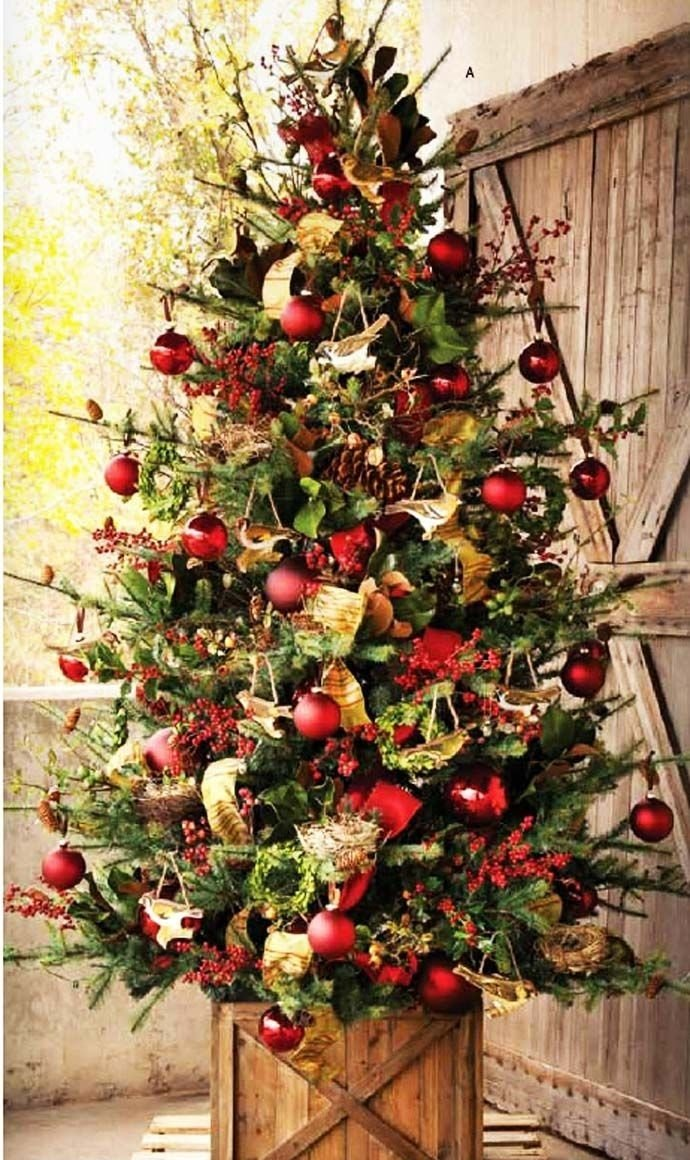 10 Ideal Ideas For Decorating Christmas Trees 40 fabulous rustic country christmas decorating ideas christmas 2020