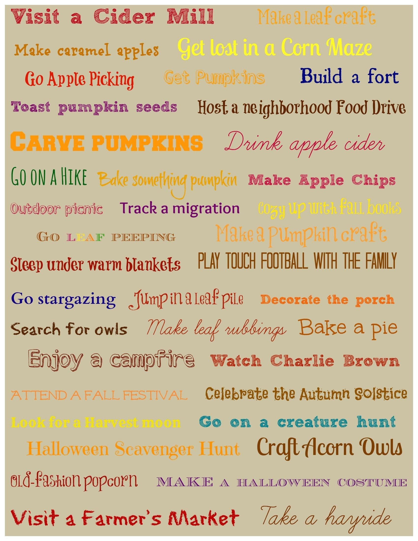 10 Famous Ideas For Things To Do 40 fun fall activities for your family edventures with kids 2020