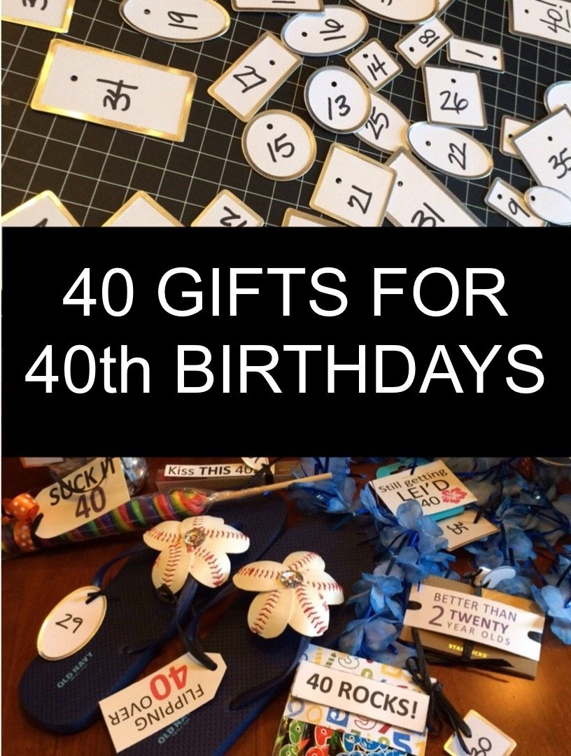 40 gifts for 40th birthdays - little blue egg