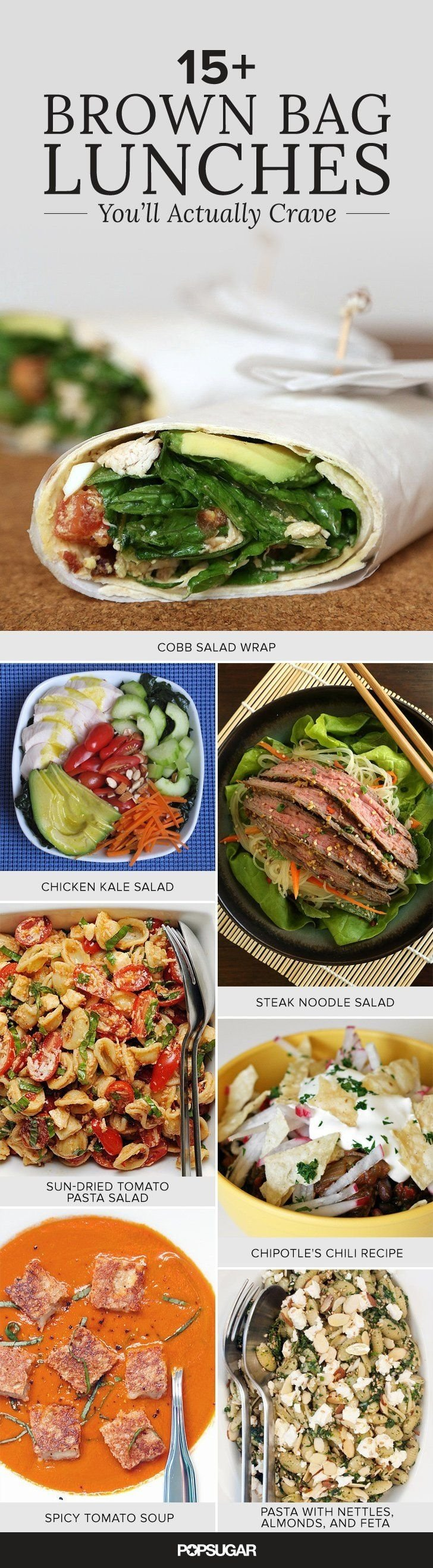 40+ good-looking lunches to bring to work | brown bags, lunches and