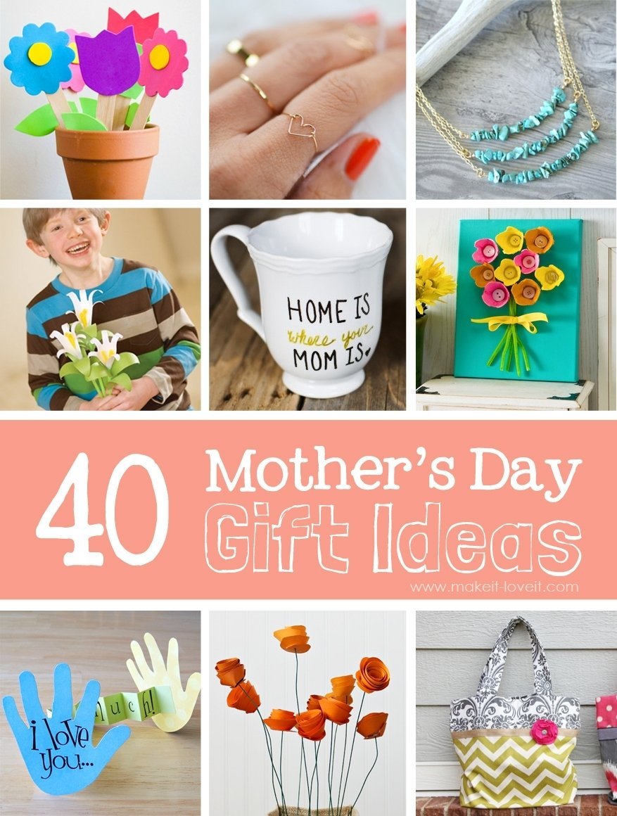 10 Cute Good Mothers Day Gifts Ideas 40 homemade mothers day gift ideas make it and love it 9 2021