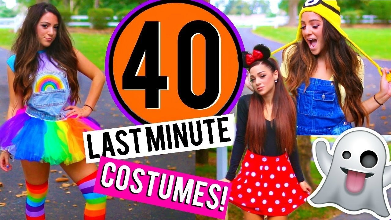 10 Great Really Easy Halloween Costume Ideas 40 last minute diy halloween costumes niki and gabi youtube 2021