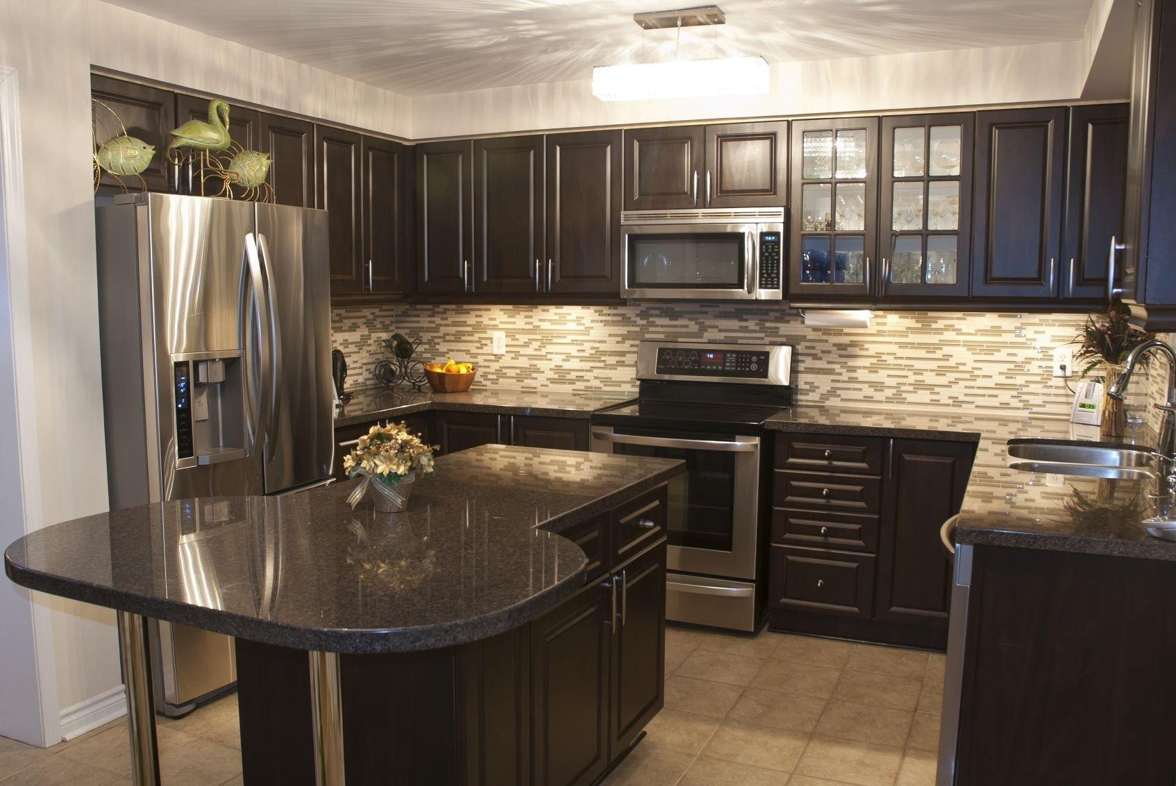 40 magnificent kitchen designs with dark cabinets | dark countertops