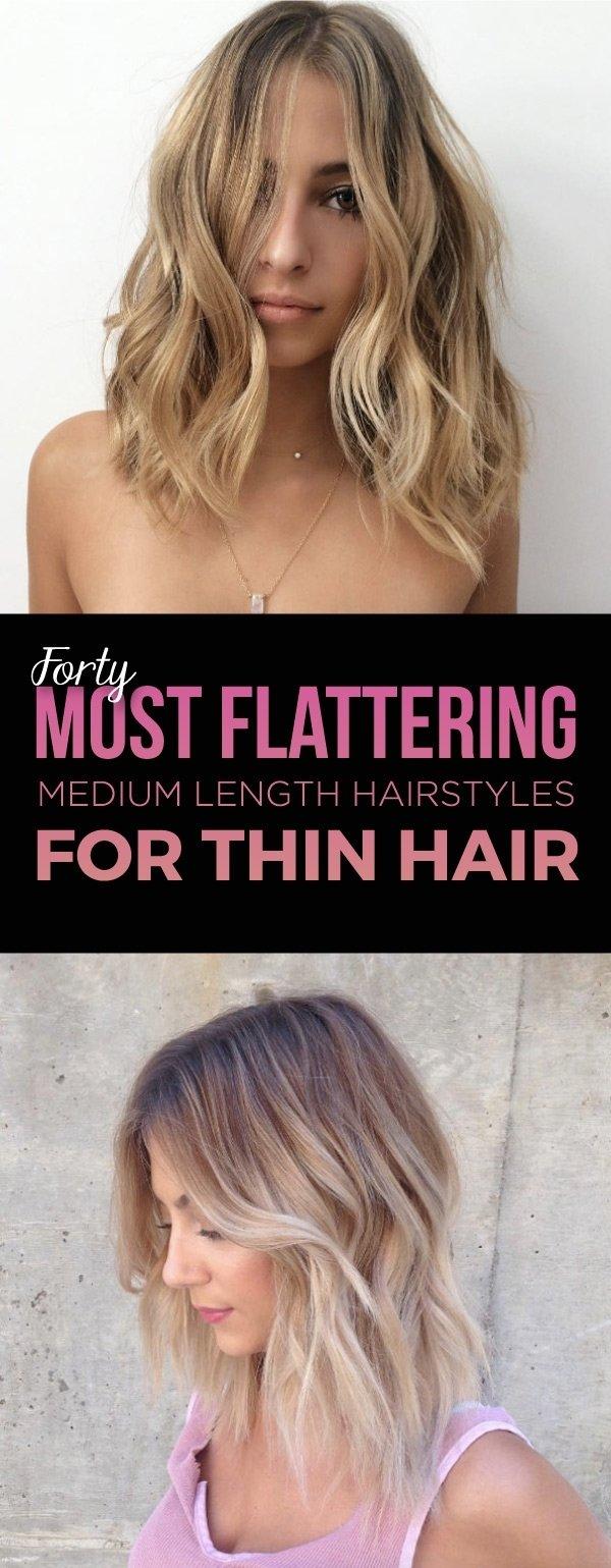 10 Lovely Hair Ideas For Thin Hair 40 most flattering medium length hairstyles for thin hair style 2020