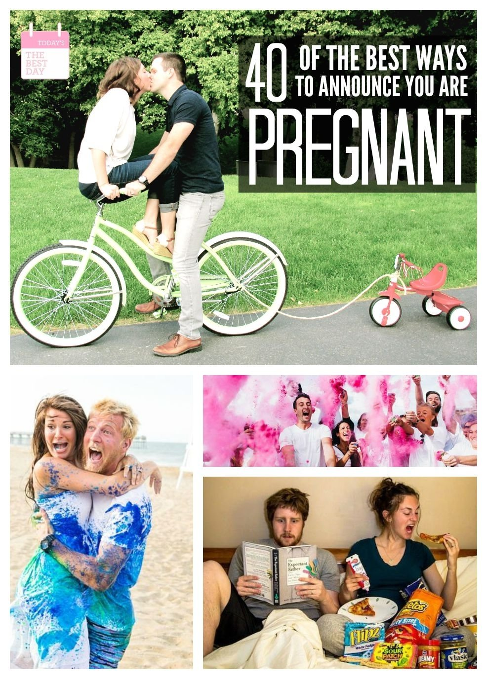 10 Fantastic Creative Ideas To Announce Pregnancy 40 of the best ways to announce you are pregnant todays the best day 2 2021