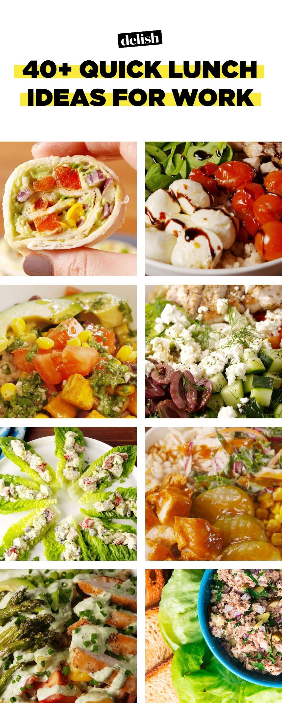 40+ quick lunch ideas for work – recipes for fast work lunches