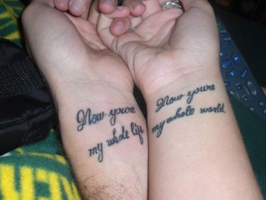 10 Attractive Cute Tattoo Ideas For Couples 40 stunning couples wrist tattoo 2