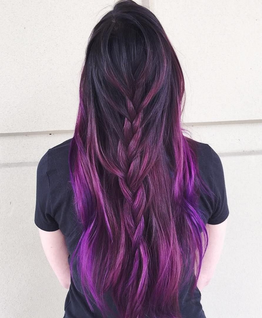 10 Unique Pink And Black Hair Ideas 40 versatile ideas of purple highlights for blonde brown and red