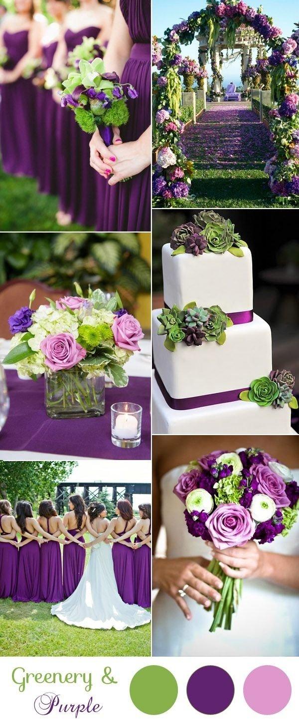 10 Amazing Green And Purple Wedding Ideas