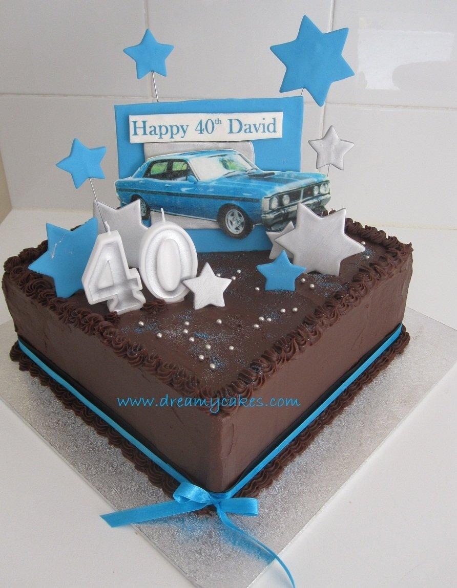10 Stunning 40 Year Old Birthday Cake Ideas 40th birthday cake dream car cake