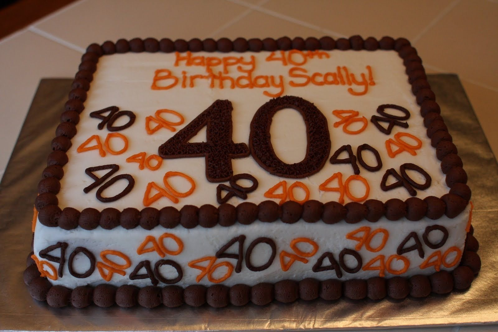 "40th birthday cake ideas for men - google search | ""let them eat"