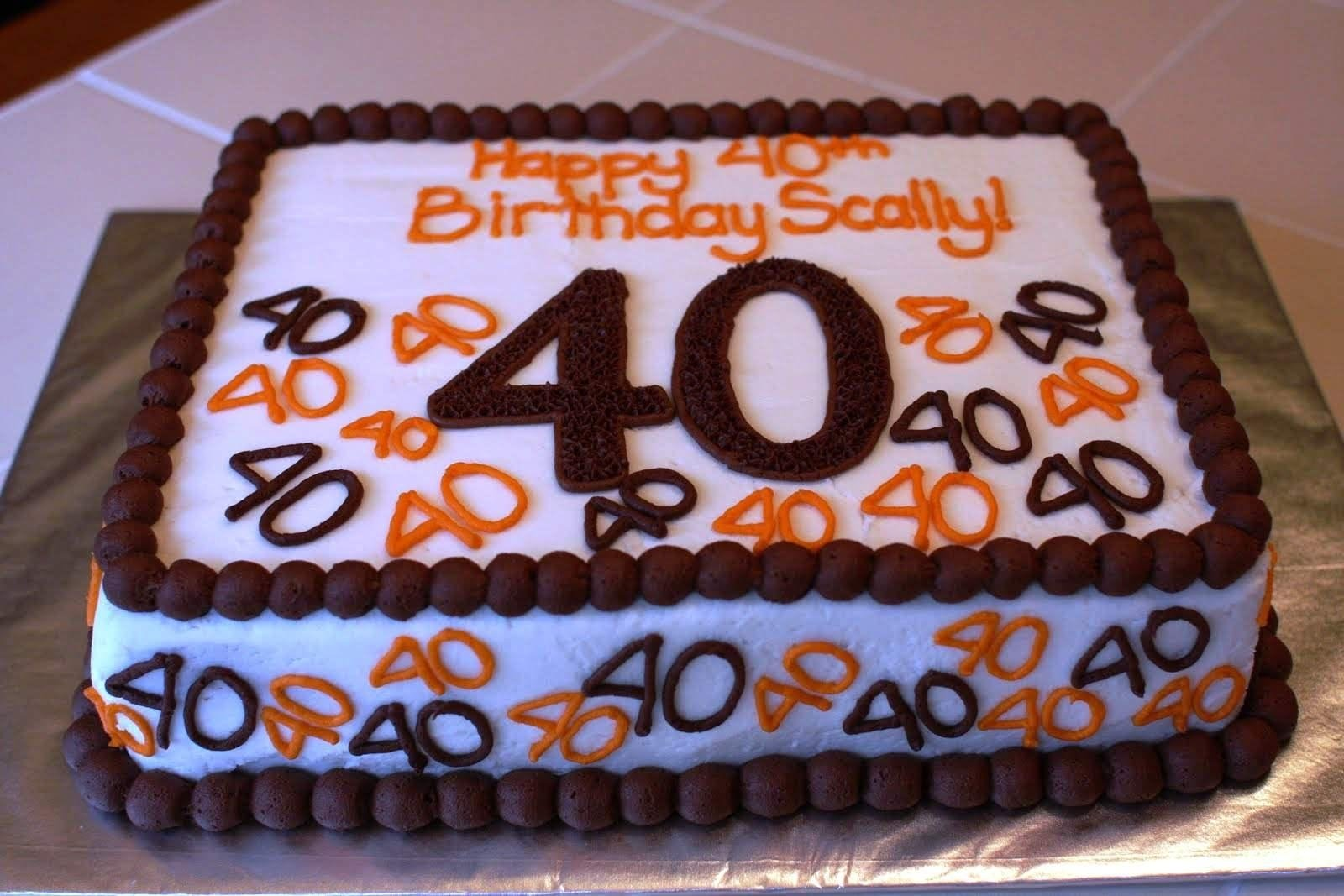 10 Nice Birthday Cake Ideas For Men 40th Protoblogr Design
