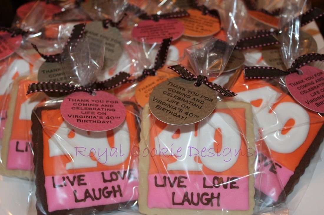 10 Gorgeous 50Th Birthday Party Favor Ideas 40th Favors Royal Cookie Designs
