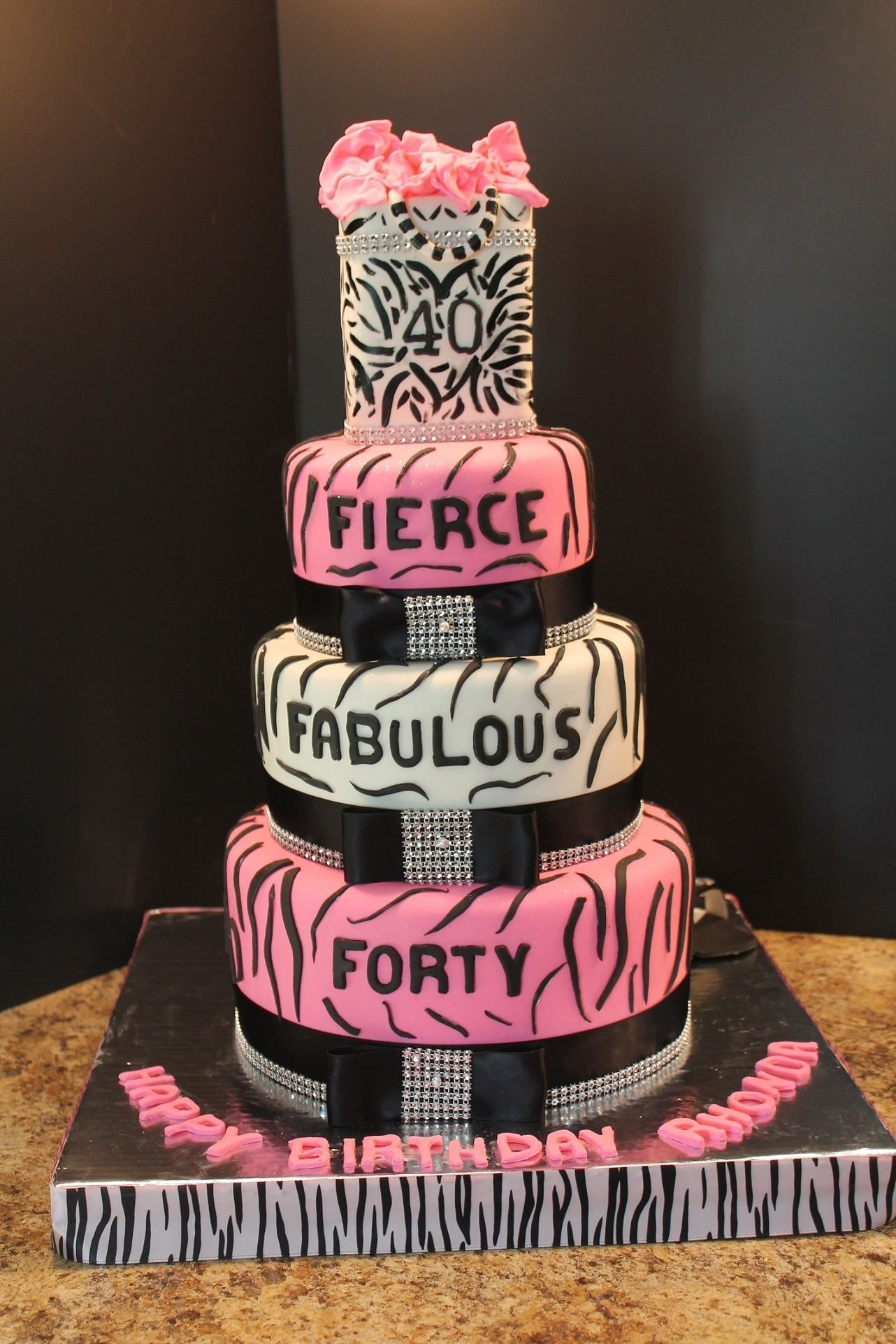 10 Lovely Ideas For 40Th Birthday Party Female 40thbirthdaycake 40th birthday cake birthday cakes 40 50 3 2020