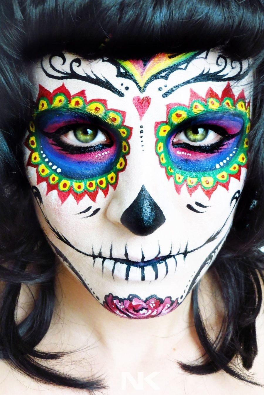 10 Best Face Painting For Halloween Ideas 41 beautiful colorful sugar skull halloween makeup ideas sugar