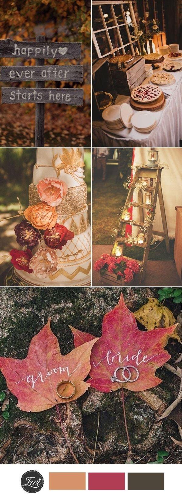 10 Wonderful Wedding Theme Ideas For Fall 41 best fall wedding ideas images on pinterest fall wedding 2020