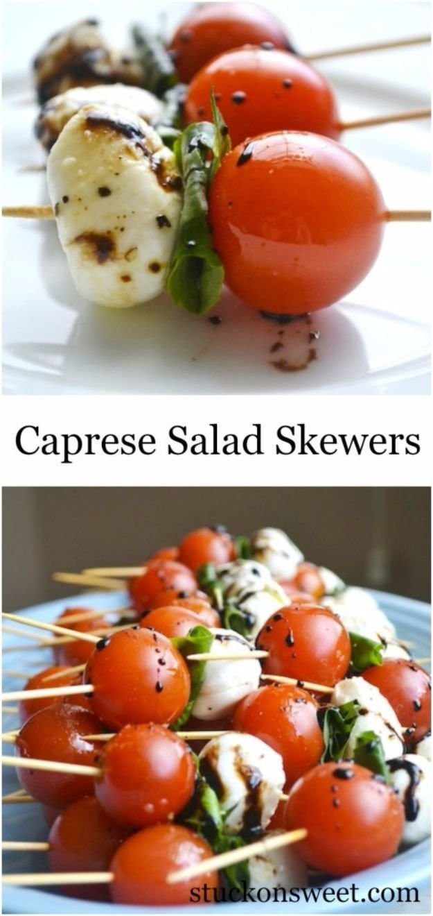 41 last minute party foods | caprese salad skewers, cheap food and