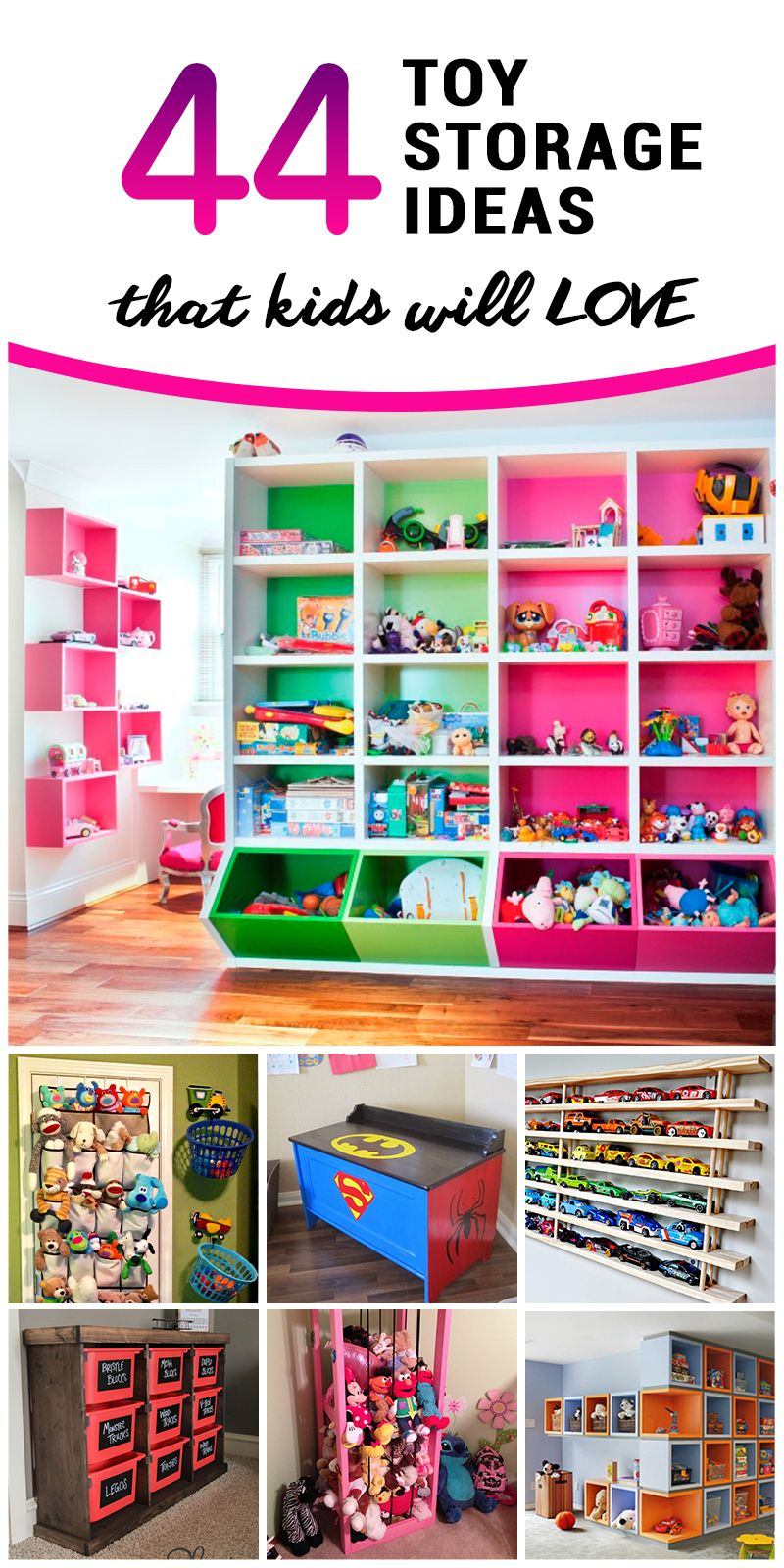 10 Fabulous Organizing Ideas For Kids Rooms 44 best toy storage ideas that kids will love organize kids in 2021