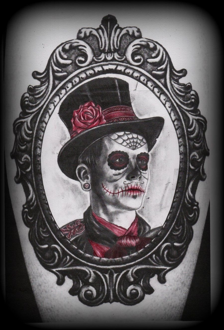 10 Fashionable Day Of The Dead Tattoo Ideas 44 day of the dead tattoos gallery framed tattoo tattoo and 2021
