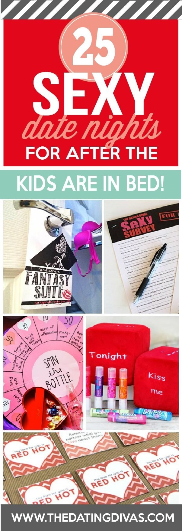 45 at home date night ideas for after the kids are in bed! | bedroom