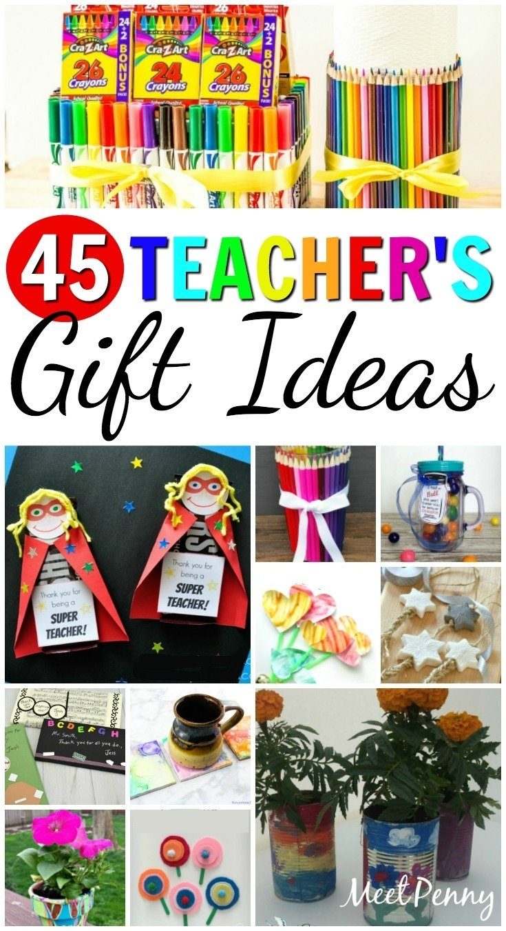 10 Pretty Homemade Gift Ideas For Teachers 45 diy teachers gift ideas meet penny 2020