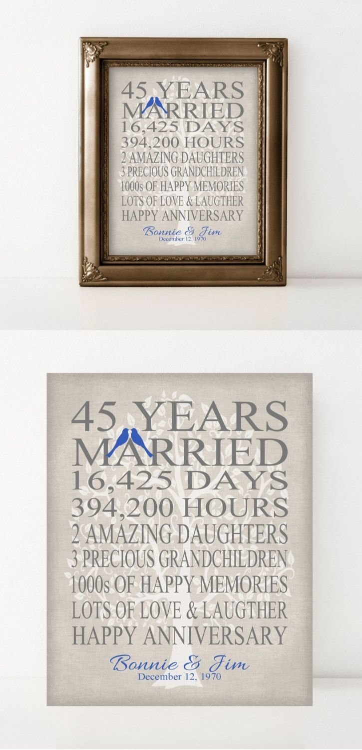 45th wedding anniversary gift for parents sapphire anniversary gift