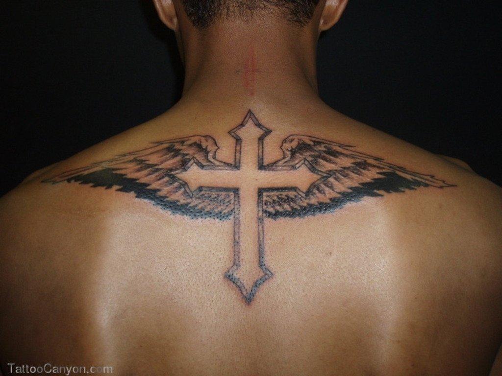 10 Gorgeous Back Tattoo Ideas For Men 46 cross tattoos ideas for men and women inspirationseek 1