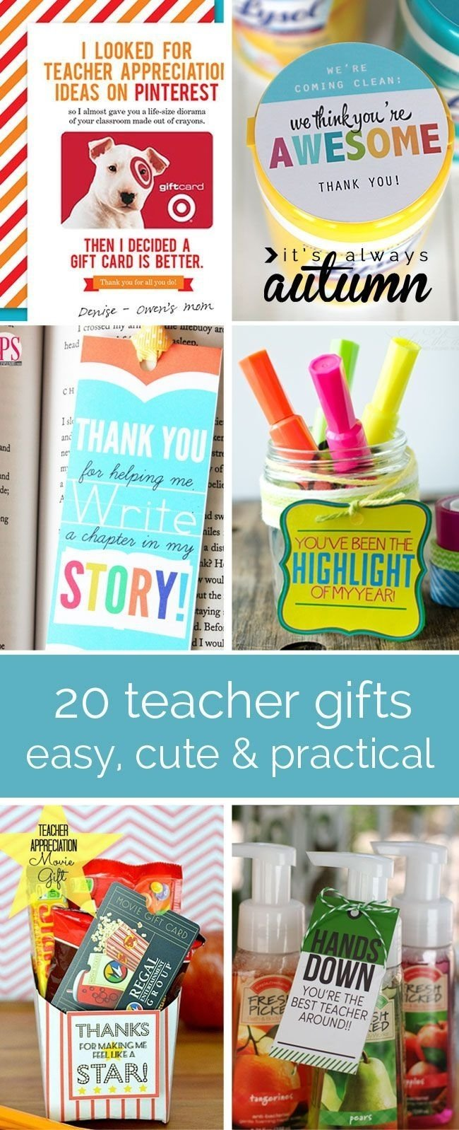 10 Most Recommended Cute Ideas For Teacher Appreciation Week 47 best teacher appreciation and end of year gift ideas images on 2020