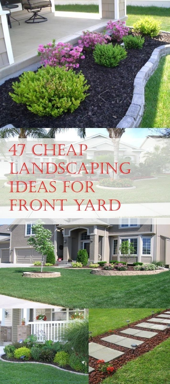 47 cheap landscaping ideas for front yard | cheap landscaping ideas