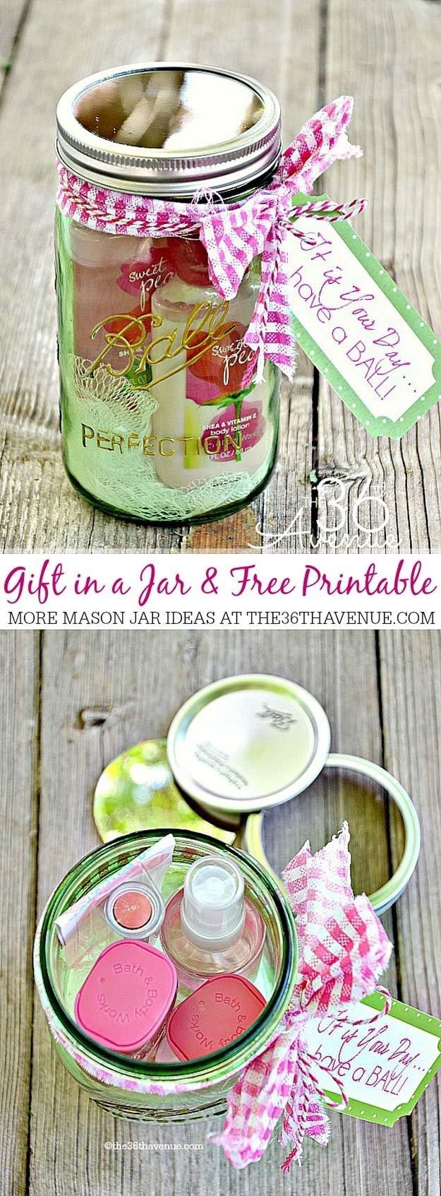 10 Ideal Diy Mason Jar Gift Ideas 47 cute mason jar gifts for teens 1 2020
