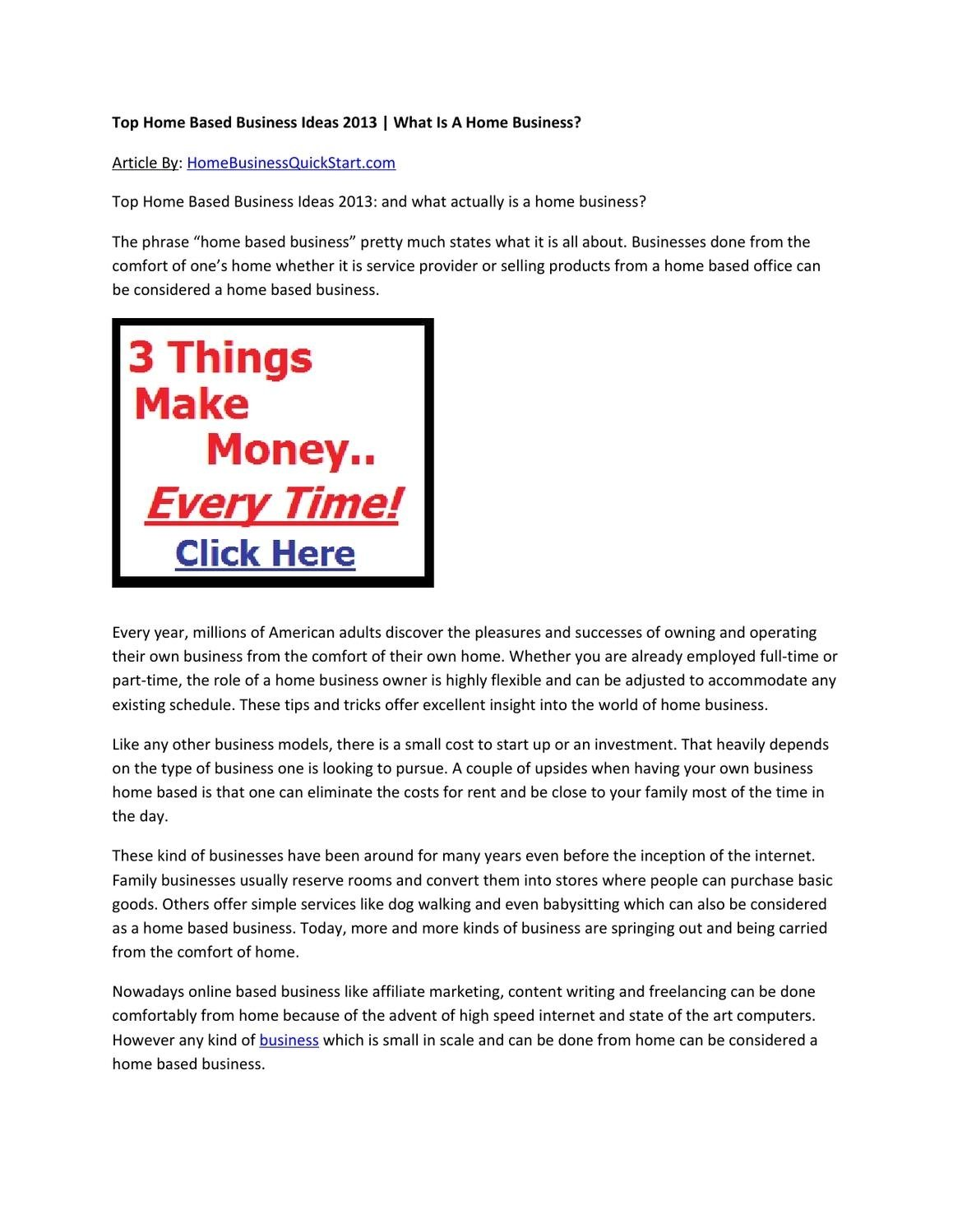 10 Ideal Top Small Business Ideas 2013