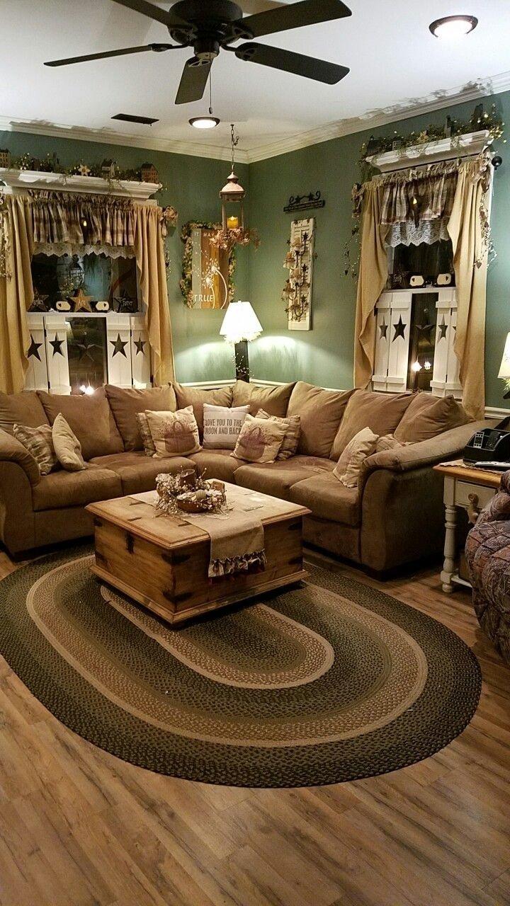 10 Fabulous Country Living Room Decorating Ideas 487 best primitive rooms images on pinterest prim decor primitive 2020